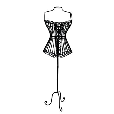 Decorative Black Corset Mannequin / Dummy