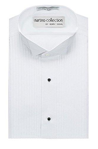 Henry Segal Men's Tuxedo Shirt - 1/4 inch pleat Wing Collar Construction