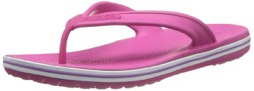 Crocs Unisex-Adult Crocband Flip Low Profile Thong Sandals 15690-69L-184 Fuschia/Dahlia 7 UK, 41 EU, 7 US, Regular