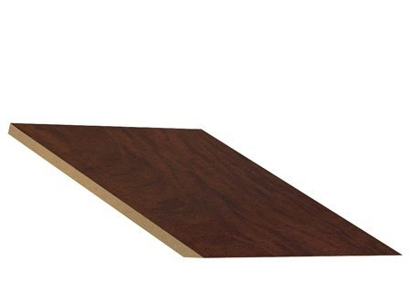 "Sloping Hood In-Line Filler Size: 7.75"" H X 15"" W X 22"" D, Color: Mahogany front-504297"