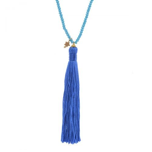 lua accessories Kette Pomp Pomp in Blau