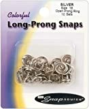 Snap Source Open Long-Prong Snaps Size 16 10/Pkg-White