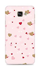 Amez designer printed 3d premium high quality back case cover for Samsung Galaxy A7 (2016 EDITION) (Hearts)