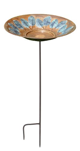 Achla Designs Large Leaf Birdbath With Stand