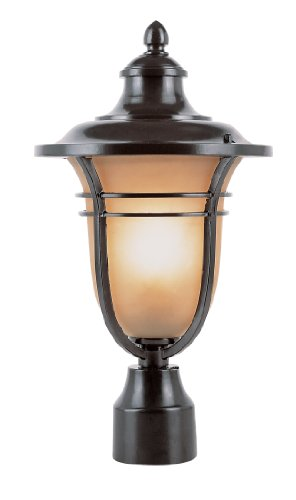 Trans Globe Lighting 5703ROB 16-Inch Amber Post Top Light