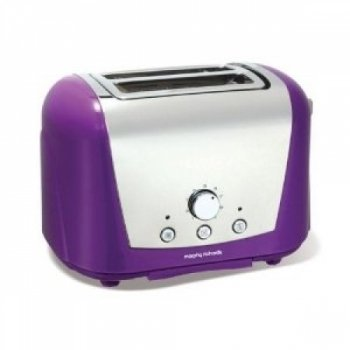 Morphy Richards Accents 44387 2 Slice Toaster, Purple by Morphy Richards