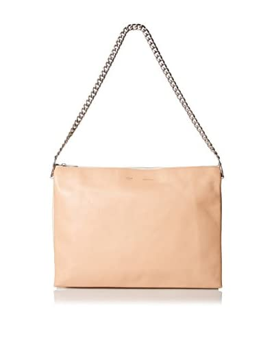 Céline Women's Leather Shoulder Bag, Peach/White/Yellow