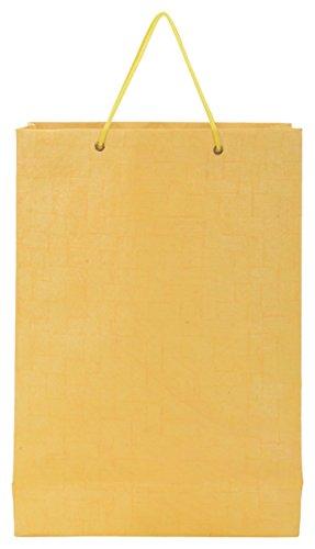 Utsav Kraft Paper 3 Ltrs Yellow Reusable Shopping Bags