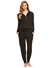 M&S Collection Pure Cashmere Hooded Knitted Onesie