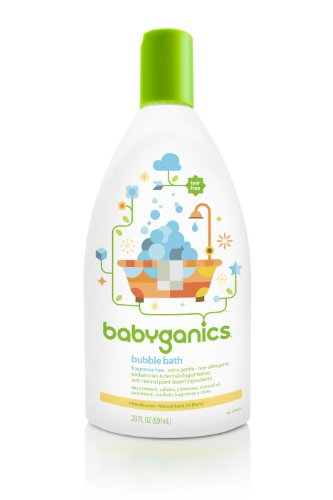 Babyganics Bubble Bath, Fragrance Free, 20 Oz (Pack Of 2), Packaging May Vary