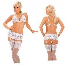 Roxana Sexy Wäsche Set offener BH und String mit Strapskürtel Gr.M, 1 Stück
