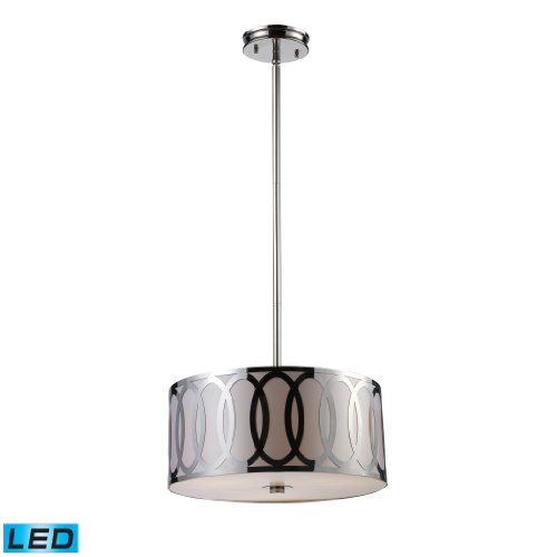 Anastasia 3-Light Pendant In Polished Nickel - Led, 800 Lumens (2400 Lumens Total) With Full Scale Dimming Range, 60 Watt (180 Watt Total)Equivalent , 120V Replaceable Led Bulb Included