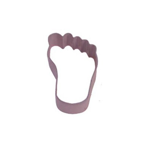 Dress My Cupcake Baby Shower Feet Cookie Cutter, 3.5-Inch, Pink