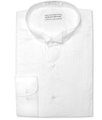 Biagio Men's 100% COTTON White TUXEDO Dress Shirt sz 20 36/37