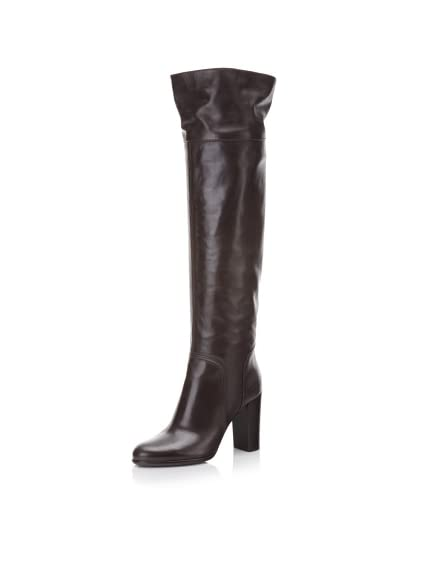 Sergio Rossi Women's Leather Over-the-Knee Boot