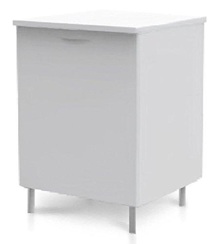 Mobile cucina bianco base 1 anta ripiano piedi regolabili arredamento 04.15.146