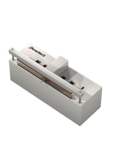 "AmeriVacS CAVS-20 Retractable Nozzle Vacuum Sealer with Built-in Air Compressor, 20"" Seal Length, 1/4"" Seal Width"