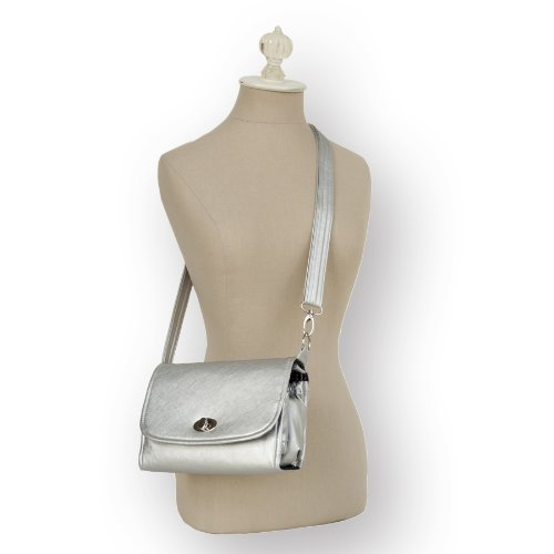 Lillybit Cross Body Strap (For The Uptown Diaper Clutch) (Silver)