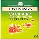 (Pack of 4) Twinings - Green Tea Orange &Lotus Flower 20 Bag