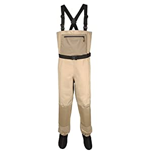 Aquaz kenai stockingfoot chest wader with 3 for Fishing waders amazon