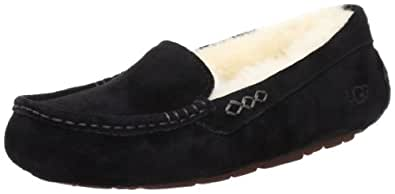 UGG Australia Women's Ansley BLACK Suede Slipper 5 M US