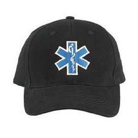 9281 Black EMS EMT Supreme Low Profile Insignia Cap