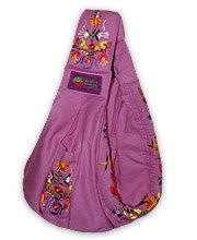 Baba Slings Embroidered Baby Carrier, Lilac
