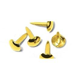 Rayher - 7871606 - tachuelas de punta redonda, 4 + 8 millimeter, blíster 75 pcs, de oro