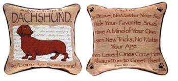 Advice From a Dachshund Dog Throw Pillow