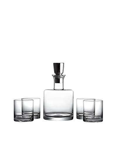 Fitz & Floyd Linus 5-Piece Whiskey Decanter Set