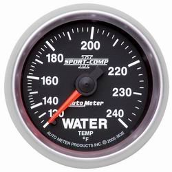 Auto Meter 3632 Sport Comp II Mechanical Water Temperature Gauge