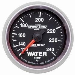 Auto Meter 3632 Sport Comp II Mechanical Water Temperature Gauge