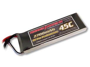 2700mAh 2S 7.4V G6 Pro Performance 45C LiPo