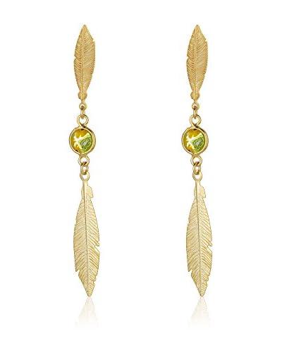ZZ-Cordoba Jewels Pendientes plata de ley 925 milésimas bañada en oro