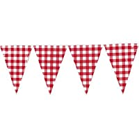 Large Red Gingham Pennant Banner - Party Decorations & Banners by Oriental Trading Company