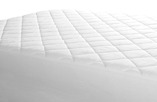 Lowest Prices! Fitted Quilted Queen Mattress Pad - Stretches up to 17inch Deep Mattress Pad Cover by...