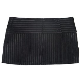 10.25″ Length Pinstripe Micro Mini Skirt in SMOKE GRAY / PINK – Ladies / Juniors Size Medium