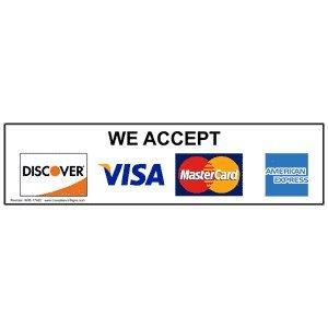 we accept visa mastercard discover american