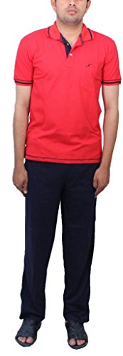 Romano-Mens-Red-Cotton-T-shirt-Track-Set