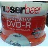 MOSERBAER Platinum DVDR 4.7GB / 16X 120min - DVD-R 50 Pack