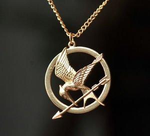 The Hunger Games Mocking Jay Collana in bronzo antico Incisioni dettagliate su Mockingjay