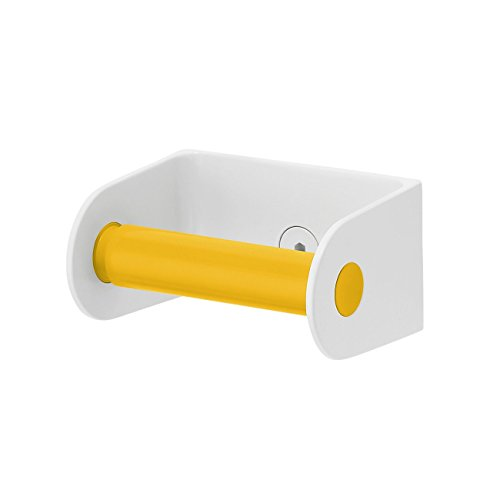 Sabi Roll Toilet Paper Dispenser with Spring-Loaded Roller, Yellow