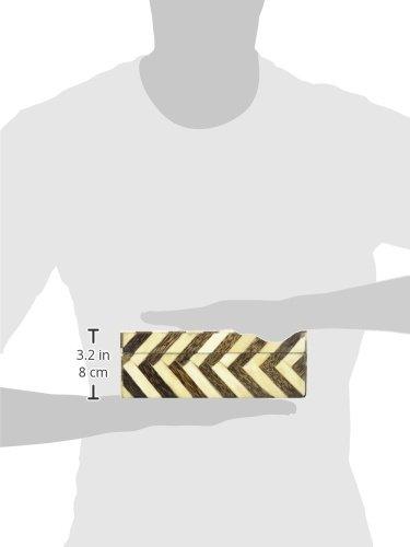 IMAX 19911-3 Zig Zag Bone Inlay Boxes, Set of 3