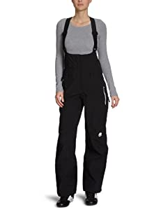 Maloja Marcenda - Pantalón de esquí con tirantes para mujer (3 capas, tejido Softshell) negro negro Talla:large