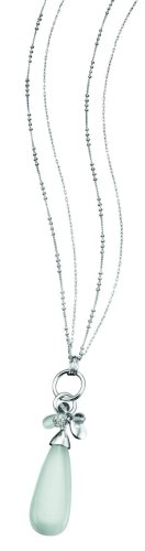Fiorelli Costume Collection N2753 Ladies' White Cat's Eye Multi Drop Pendant on Chain. Length 68cm