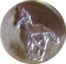 "Galloping Horse 3/4"" diameter Brass Wax Seal Stamp"