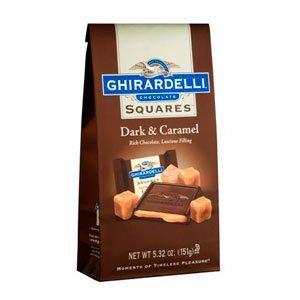 Ghirardelli Chocolate Dark Chocolate & Caramel Squares Chocolates Gift Bag, 5.32 oz.
