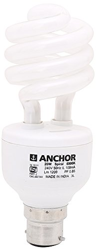 Anchor 20W Spiral CFL Bulb (White) Image
