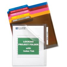 C-Line Products, Inc. Products - Locking Project Folders, w/ Index Tabs, 11