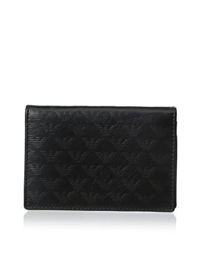 Emporio Armani Men's Leather Card Holder, Black